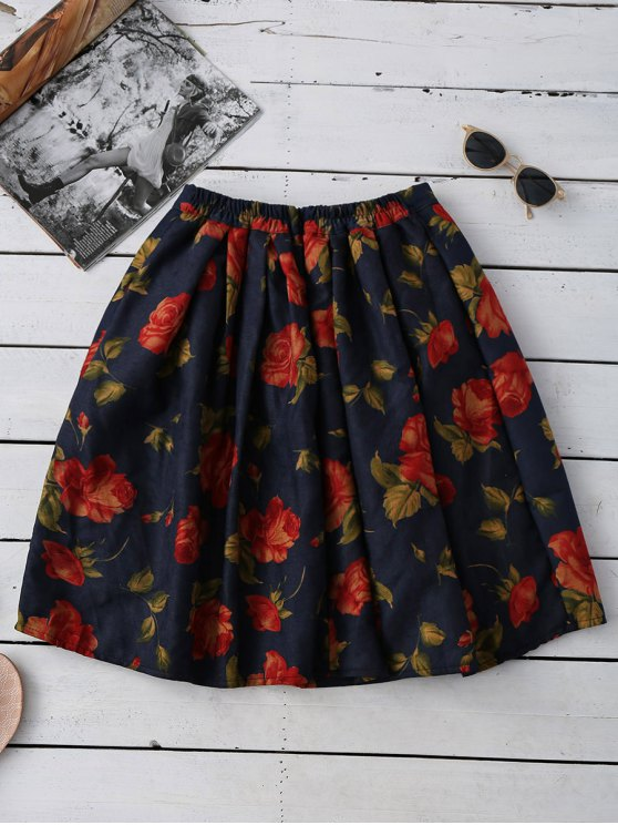Floral Flippy Ball Gown Skirt - COLORMIX ONE SIZE Mobile