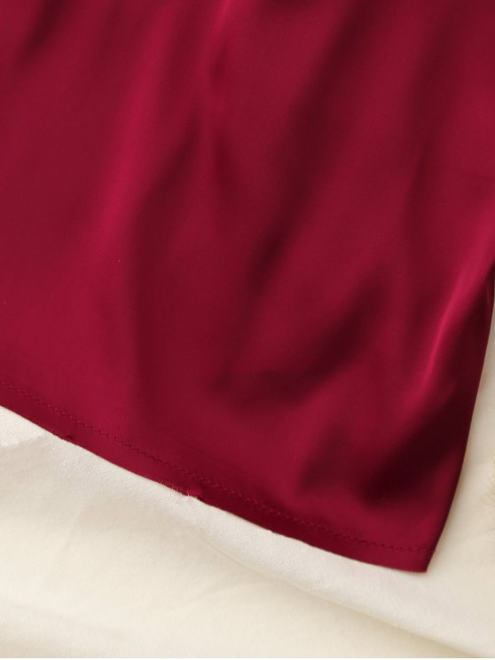 Cropped Tank Top - WINE RED S Mobile