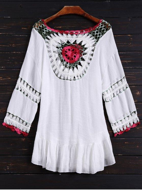 Ganchillo Babero Cubierta de Vestir - Blanco Única Talla