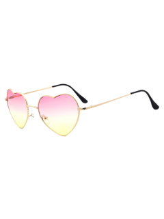 See Through Lens Heart Sunglasses - Pink