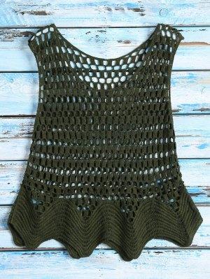Crochet See Thru Tank Top - Green