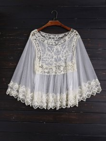 Crochet and Tulle Sheer Cover Up