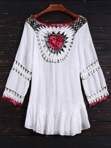 Crochet Bib Cover Up Dress