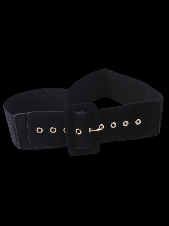 Wide Elastic Belt - BLACK  Mobile
