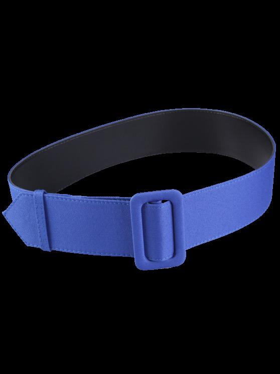 Cinturón de cuero tejido del panel de la PU - Azul