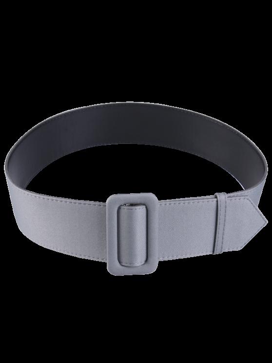 Cinturón de cuero tejido del panel de la PU - Gris