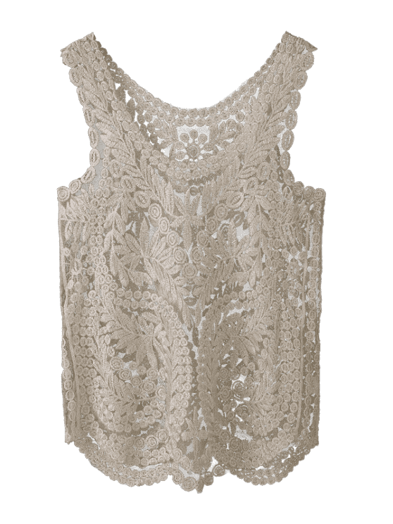 Golden Thread Cover Up For Swimwears - GOLDEN ONE SIZE Mobile