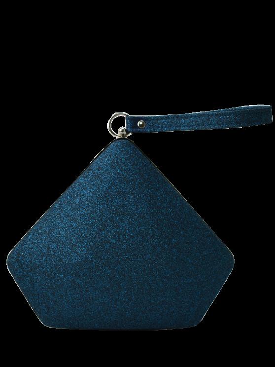 women's Glitter Geometric Sequin Evening Bag - DEEP BLUE