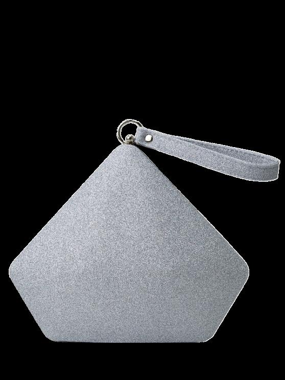 Geométrico brillo de lentejuelas bolso de tarde - Plata
