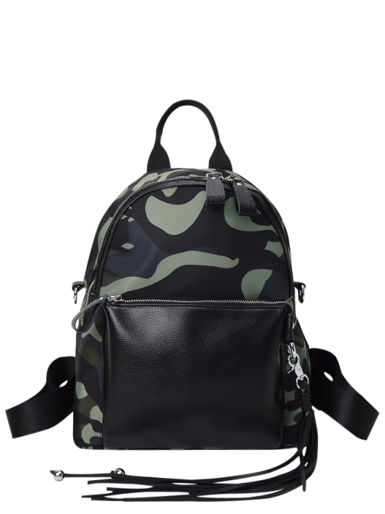 online Camouflage Print Tassel Backpack - CAMOUFLAGE