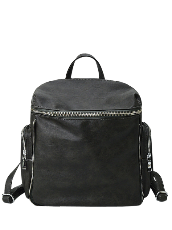 outfit Zip Aroud Faux Leather Backpack - ATLANTIS
