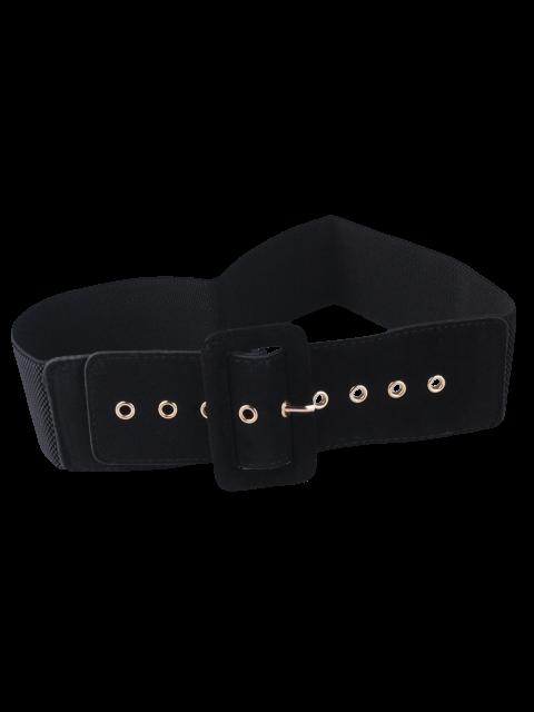 trendy Wide Elastic Belt - BLACK  Mobile