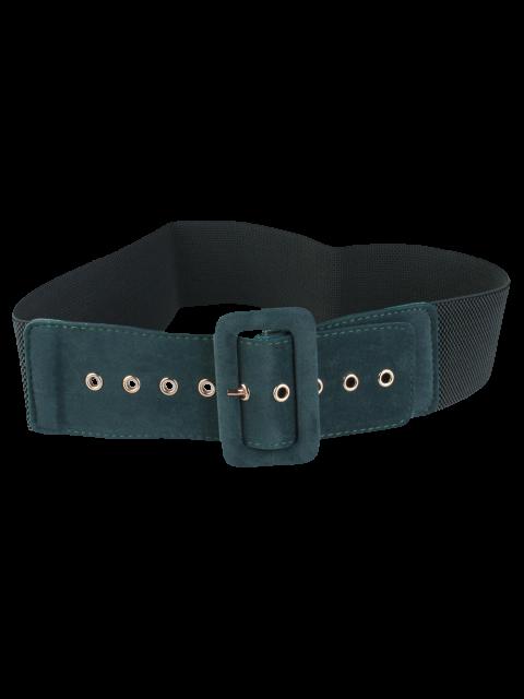 fancy Wide Elastic Belt - GREEN  Mobile