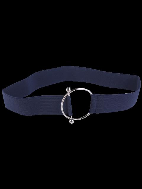 best Round Metallic Buckle Elastic Stretch Belt - BLUE  Mobile