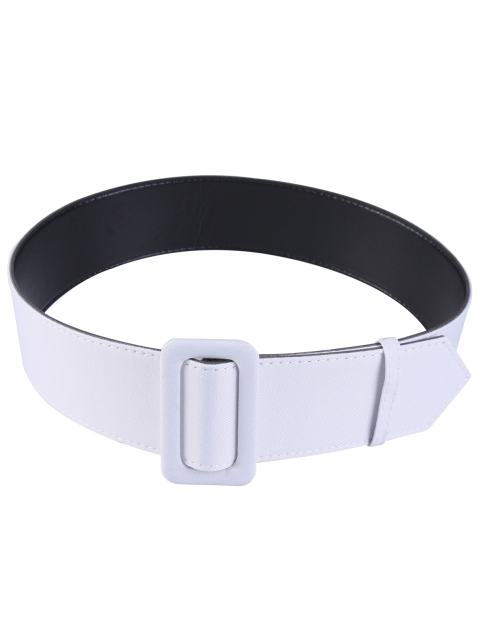 tissu panneau pu ceinture en cuir blanc ceintures zaful. Black Bedroom Furniture Sets. Home Design Ideas