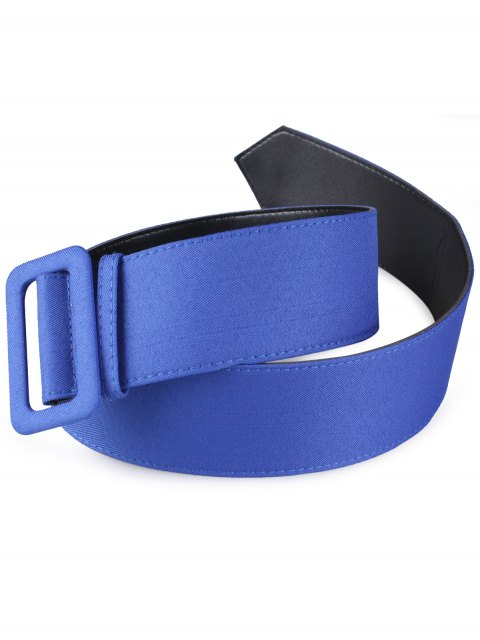 outfits Fabric Panel PU Leather Belt - BLUE  Mobile