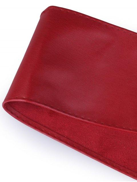 women's Tassel Long Tail Lace Up Wide Belt - WINE RED  Mobile
