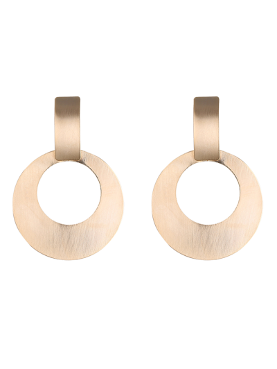 Alloy Vintage Circle Drop Earrings - Golden