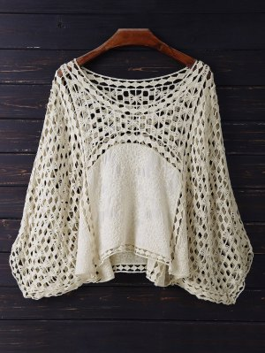Crochet Dolman Top - Beige