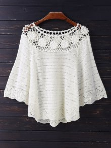 Crochet Flower See Thru Dolman Top