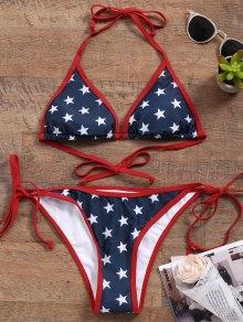 Star String Bikini Set - Blue