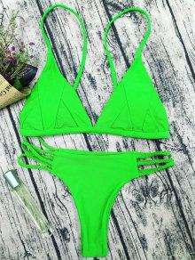Padded Cami Bikini Set - Grass Green