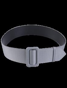 Fabric Panel PU Leather Belt