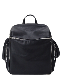 Zip Aroud Faux Leather Backpack