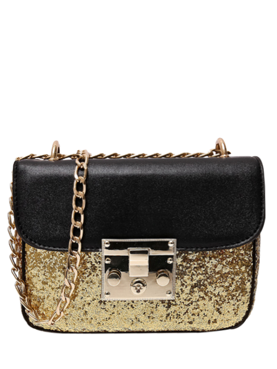 affordable Sequins Panel Mini Cross Body Bag - GOLDEN