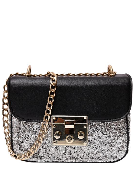buy Sequins Panel Mini Cross Body Bag - SILVER