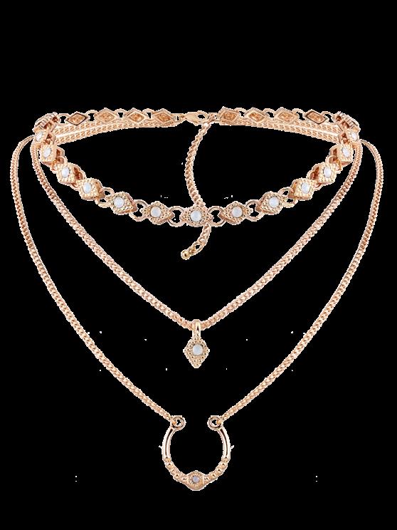 Geometric Pendant Necklace - GOLDEN  Mobile