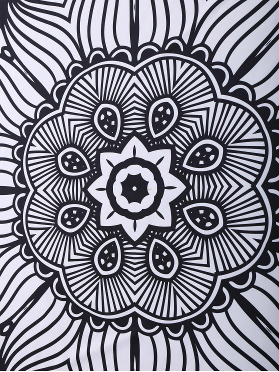 Mandala 3D Printed Beach Throw - BLACK ONE SIZE(FIT SIZE XS TO M) Mobile