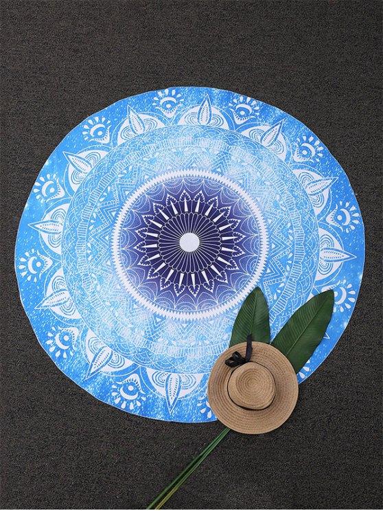 Couverture de plage ronde à motifs géométriques - Bleu TAILLE MOYENNE