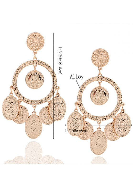 Hollow Out Plated Maxi Earrings - GOLDEN  Mobile