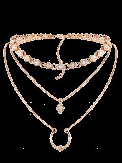Geometric Pendant Necklace - Golden