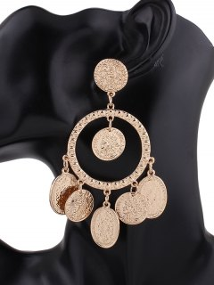 Hollow Out Plated Maxi Earrings - Golden