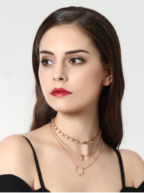 outfits Geometric Pendant Necklace - GOLDEN  Mobile