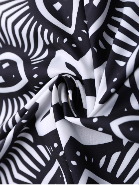 womens Mandala 3D Printed Beach Throw - BLACK ONE SIZE(FIT SIZE XS TO M) Mobile