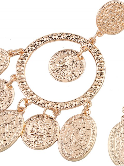 unique Hollow Out Plated Maxi Earrings - GOLDEN  Mobile