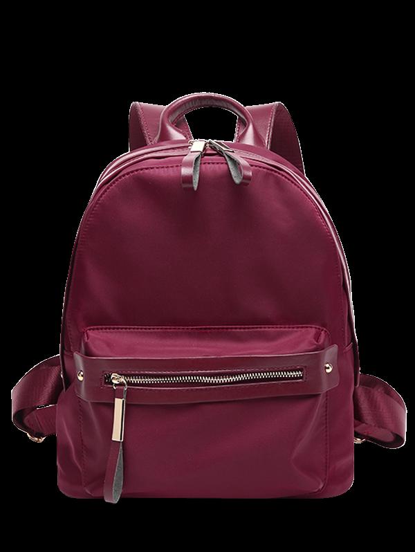 Casual Zips Nylon Backpack