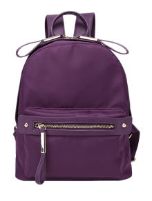 Casual Zips Nylon Backpack