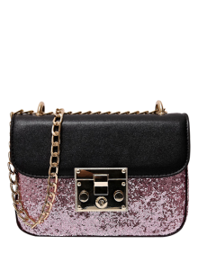Sequins Panel Mini Cross Body Bag