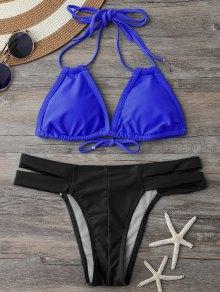 Banded Halter Thong Bikini
