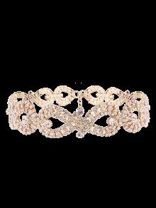 Infinity Collar Gargantilla Rhinestoned - Dorado