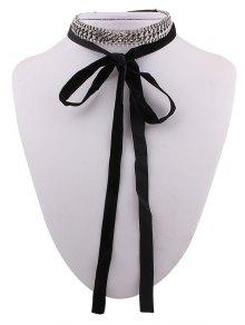Cadena Cristal Collar Gargantilla De Terciopelo - Negro
