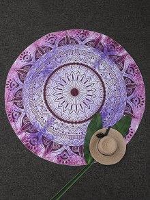 Circle Geometric Beach Throw - Purple