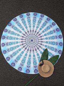 Couverture de plage ronde à motifs cachemire géométriques