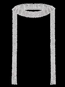 Rhinestone Fringed Wrap Necklace