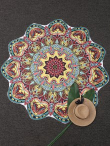 Mandala Tapestry Printed Beach Throw