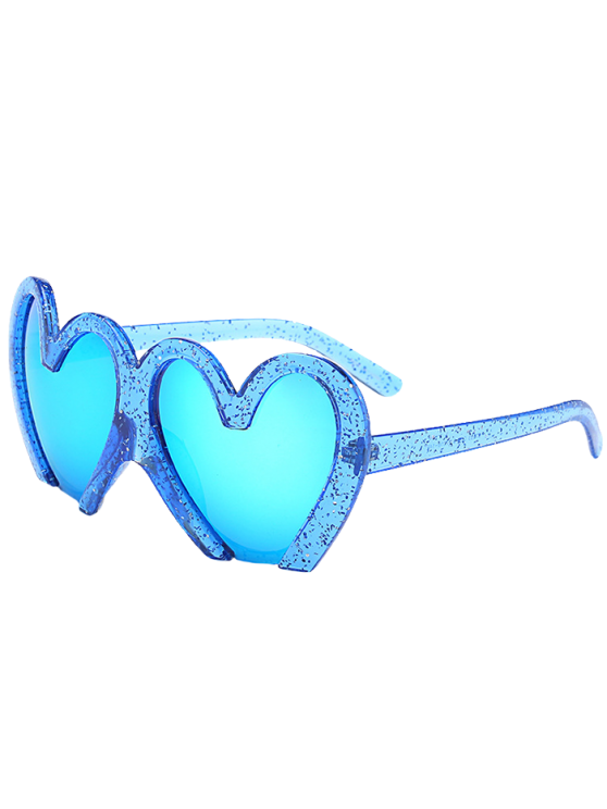 trendy UV Protection Heart Sunglasses - BLUE